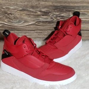 New Nike Jordan Fadeaway Red Sneakers